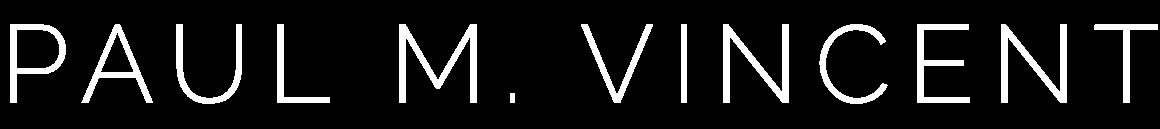 PaulMVincent-Logo-White